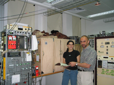 Professor Weissman and Ms. Ayala Ra�anan Hard at Work at Weizmann, Israel.